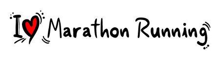 marathon running: Marathon Running love Illustration