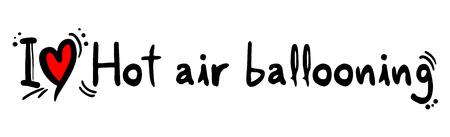 ballooning: Hot air ballooning love Illustration