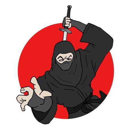 japanese ninja: japanese ninja illustration