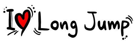 long jump: Long Jump love Illustration