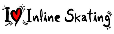 inline skating: Inline Skating love