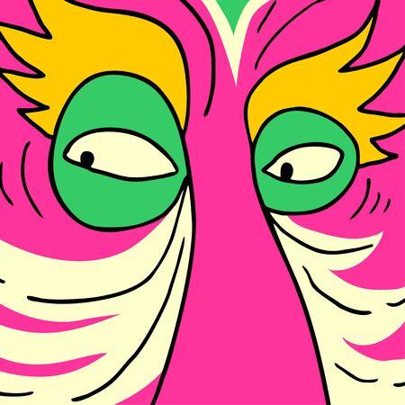rare: Mask pink rare