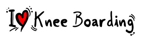boarding: Knee Boarding love Illustration