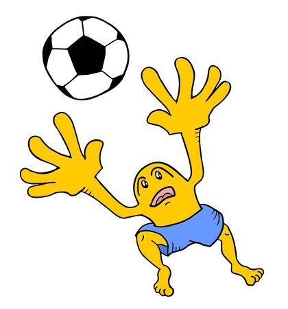 goalkeeper: soccer goalkeeper