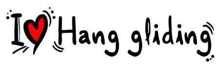 hang gliding: Hang gliding love