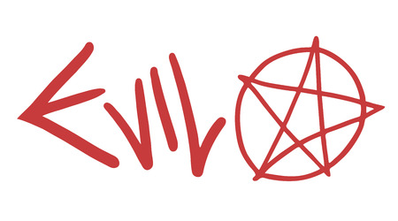 satanic: Evil symbol vector Illustration