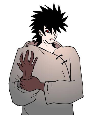 mystery man: evil character Illustration