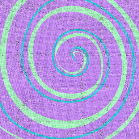 distraction: Spiral design with texture Stock Photo