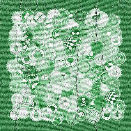 bock: Green caps Stock Photo