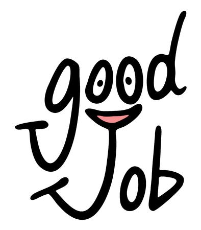 smiley pouce: bon symbole de l'emploi