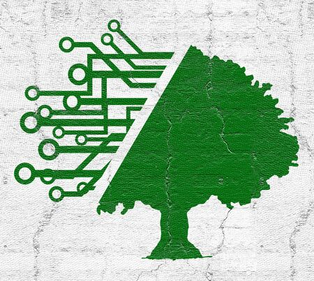 moderm: Modern tree Stock Photo