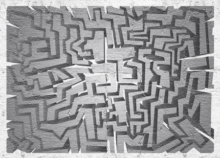 the  of the surface: Surface maze Stock Photo