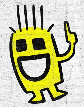 puppet: Yellow puppet Stock Photo