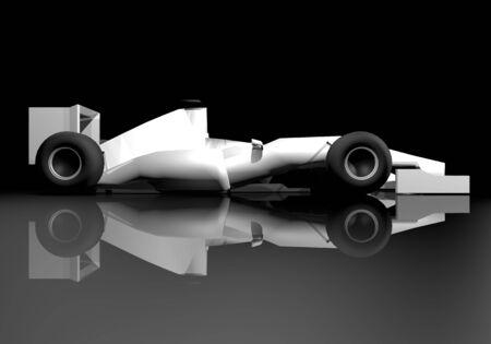 racecar: white car