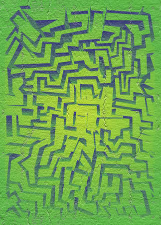 design visionary: Green lines maze