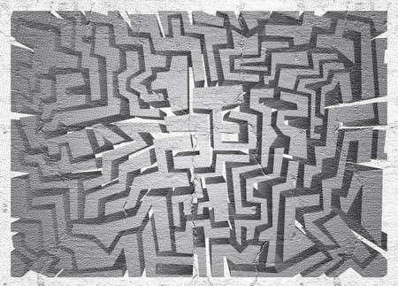 sac: Surface maze Stock Photo