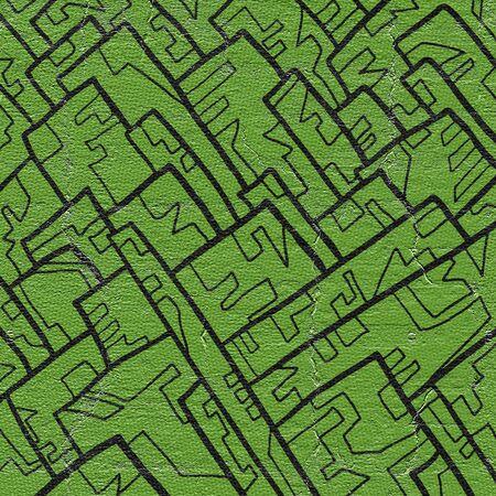 original single: Green paint cover Stock Photo