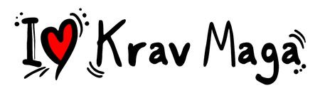 Krav Maga love Illustration