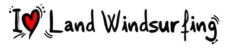 windsurf: amor Windsurf tierra