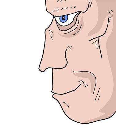 gesichtsausdruck: Gesichtsausdruck Illustration