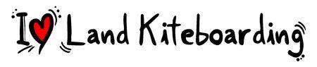 heart heat: Land Kiteboarding love