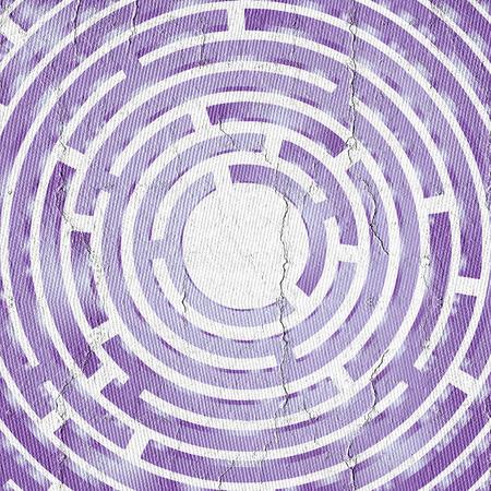 manic: Purple frame Stock Photo