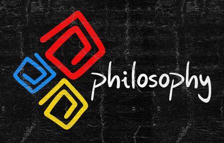 philosophy of logic: Philosophy symbol Stock Photo