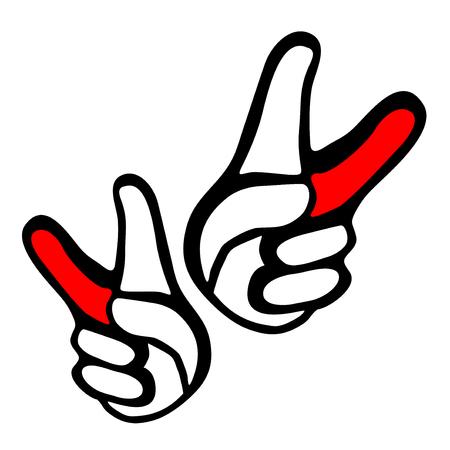 gesticulation: winner symbol