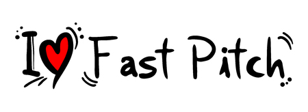 pitch: Fast Pitch love Illustration