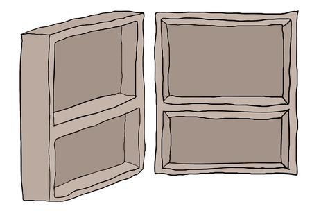 armarios: cupboards illustration Vectores