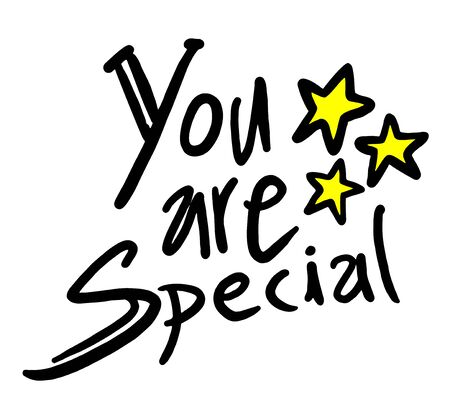 you are special: you are special message