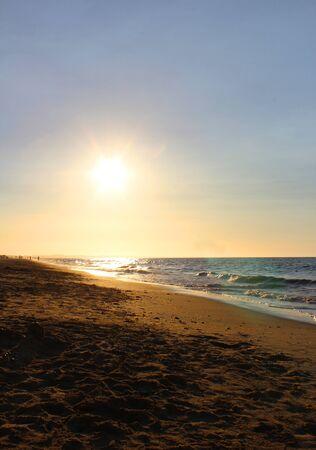 okinawa: beach sunset Stock Photo