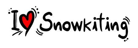 snowkiting: Snowkiting love Illustration