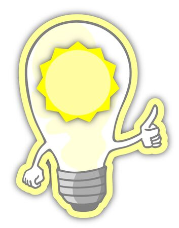 inventions: Sun energy light Illustration