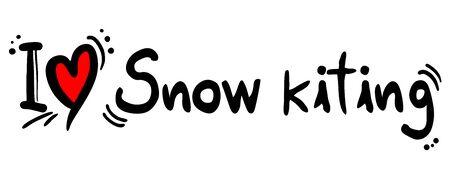 kiting: Snow kiting love