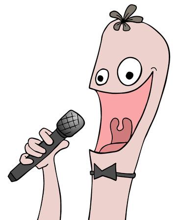 funny: funny singer Illustration