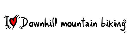 mountain biking: Downhill mountain biking love Illustration