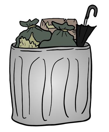 reciclar basura: bote de basura