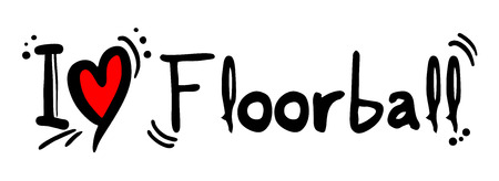 Floorball love Illustration