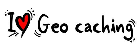 caching: Geo caching love Illustration