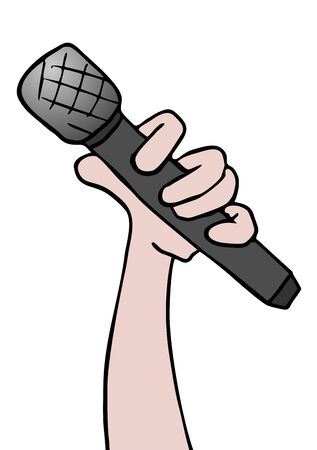 the vocalist: microphone illustration
