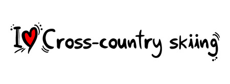 crosscountry: Cross-country skiing love Illustration