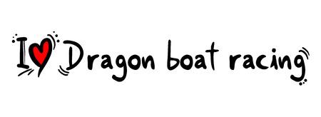 bateau de course: Dragon de l'amour de la course de bateaux