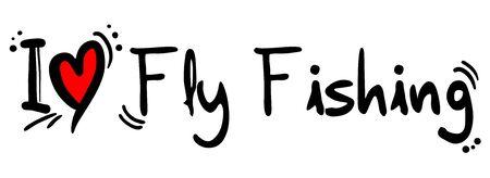 Fly Fishing love Illustration