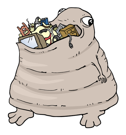 hunger: monster eating garbage