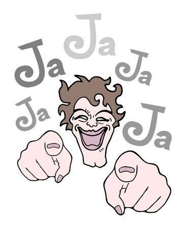 joking: joking illustration Illustration