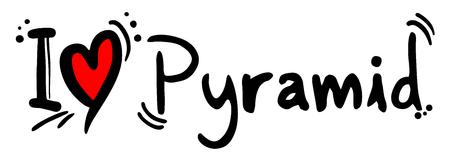 Pyramid love Illustration