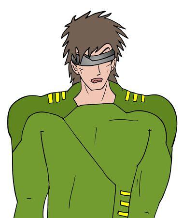 unifrom: future cartoon soldier Illustration