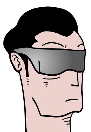man face: cartoon man face