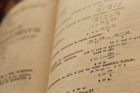 ruled paper: math book detail